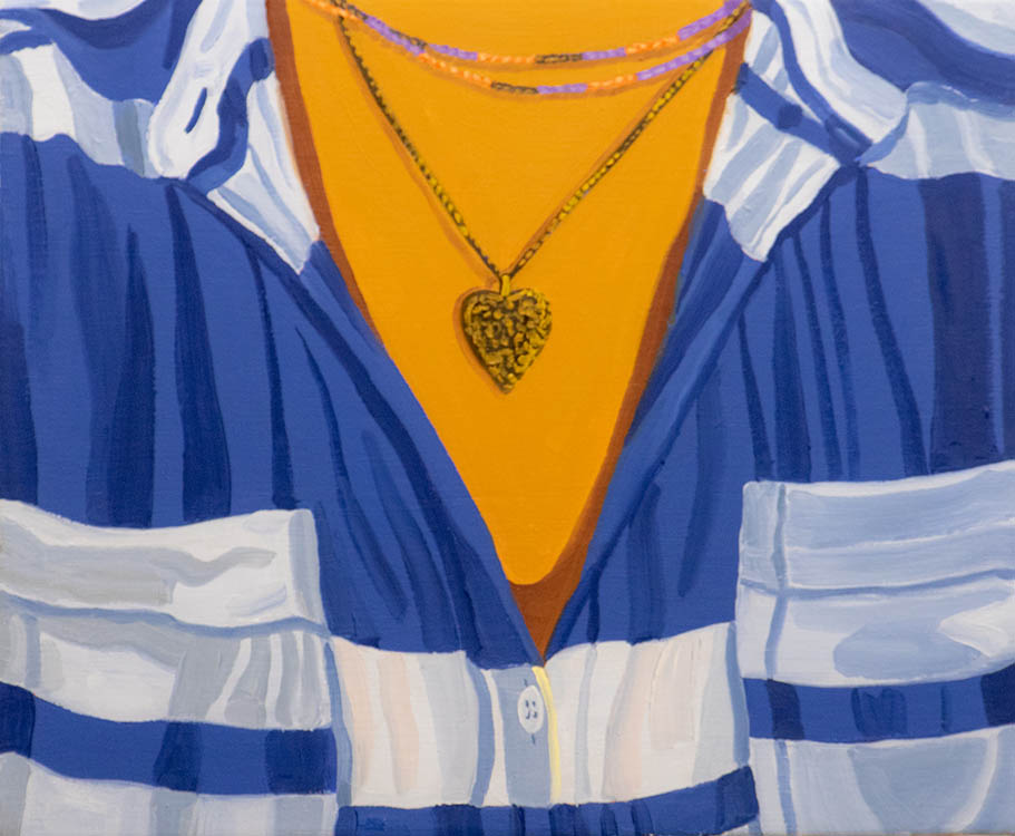 "helena wurzel, 'heart locket', 2018, oil on canvas, 10"" x 12"""