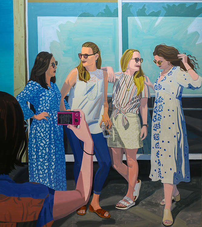 "helena wurzel, 'photoshoot', 2019, oil on canvas, 61"" x 54"""