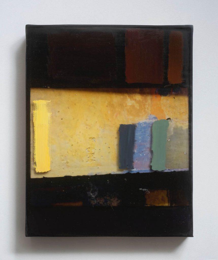 "jennifer liston munson, 'alcazar toledo, spain #3, 2019, archival pigment, oil, resin and wood, 14"" x 9"""