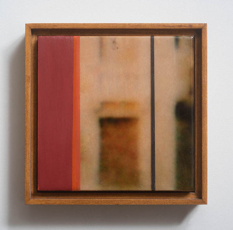 "jennifer liston munson, 'floating venice #2', 2019, archival pigment, oil, resin and wood, 7"" x 7"""