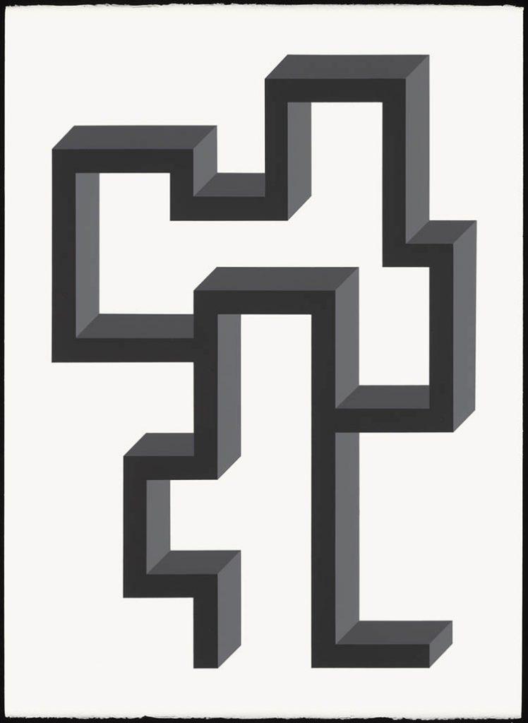 "john guthrie, 'shakedown', 2020, acrylic on paper, 30"" x 22"""
