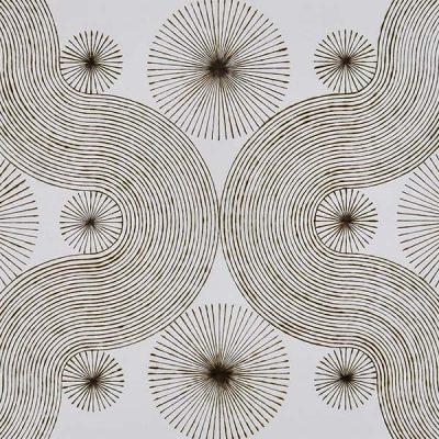 "katrine hildebrand, 'pivotal points', 2020, hand burnt lines on paper, 30.5"" x 44"""