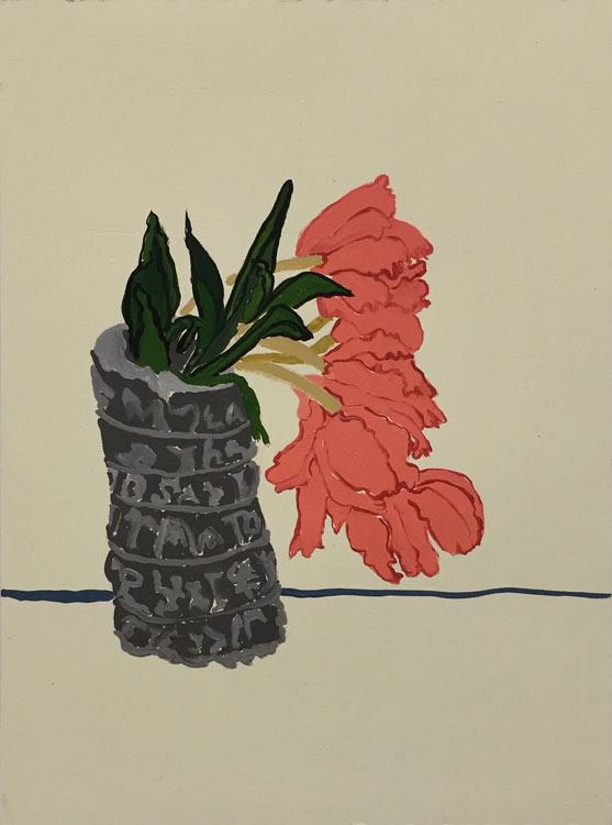 "roberta paul, 'bloom #2', 2020, gouache on panel, 16"" x 12"""