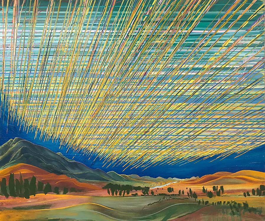 sue mcnally, ashcutney revisited, revisited, 2020, oil on canvas, 68 x 80 inches, 14,800.00