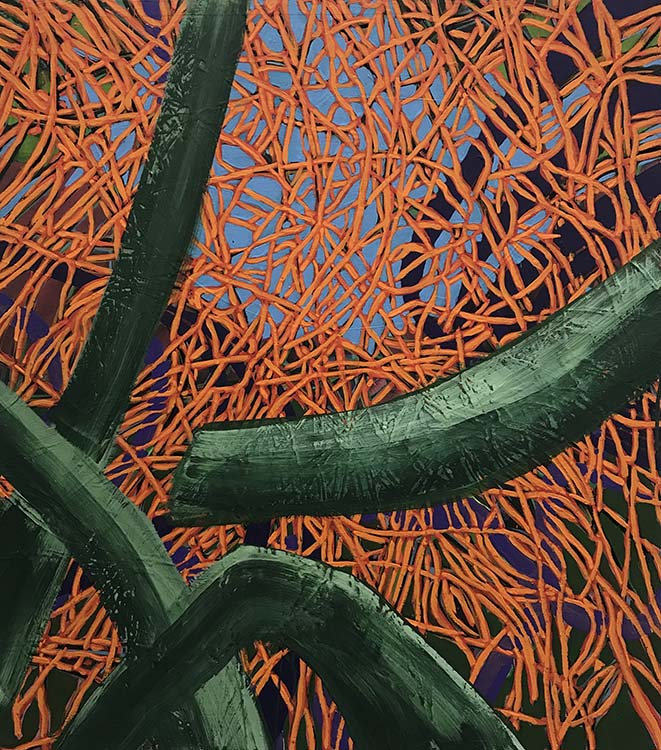 sue mcnally, Spring Brush, 2020, Acrylic on canvas, 36 in. wide x 32 in. high, 6800.00