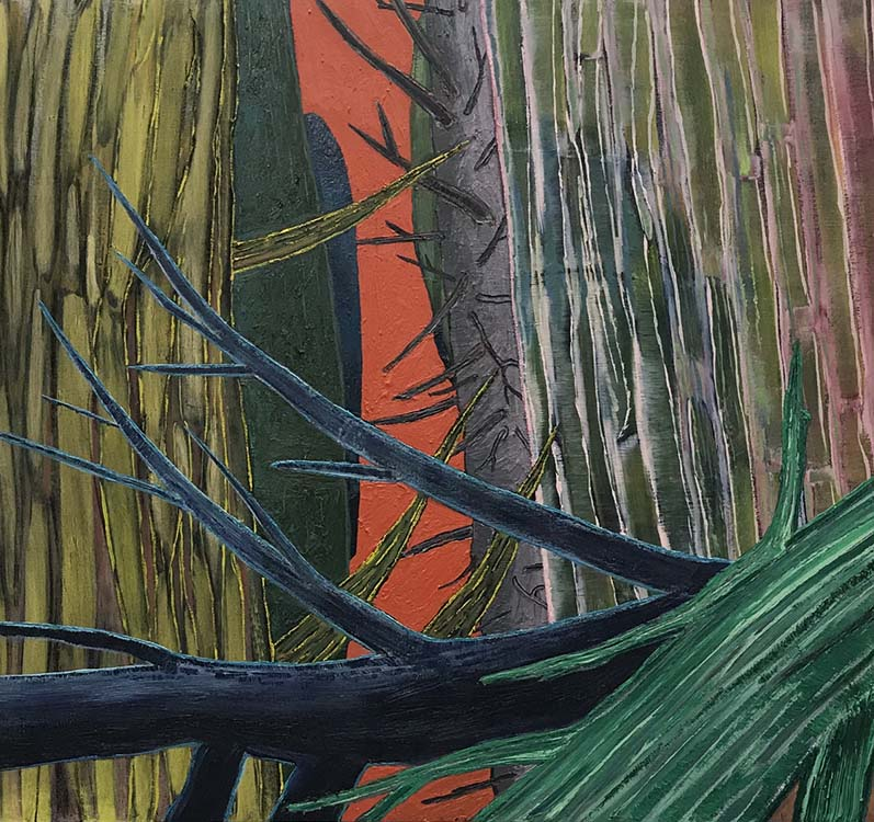 sue mcnally, Utah Woods, 2020, Oil on canvas, 40 wide x 44 high, 8400.00