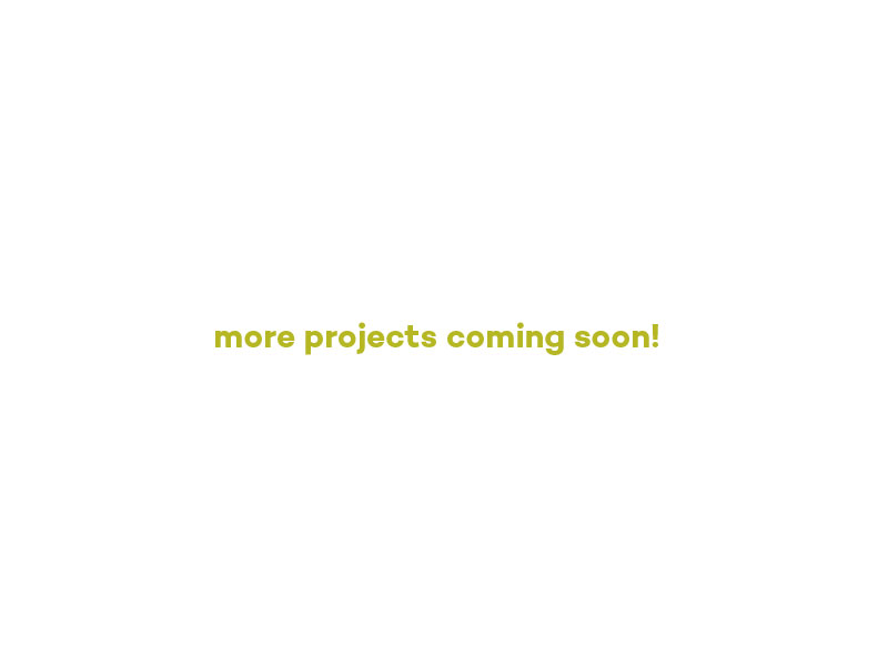 more projects coming soon!